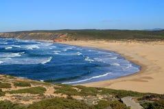 Plage de Bordeira, côte de Vicentine, Portugal Images libres de droits