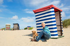 Plage de Borkum Photo stock