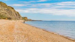 Plage de bouche d'Eype, côte jurassique, Dorset, R-U images stock