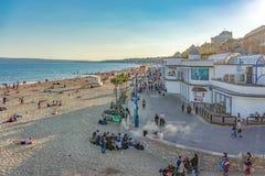 Plage de Bournemouth dans Dorset Image libre de droits