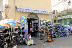 Plage de boutique de chaussure Photo libre de droits