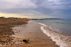 Plage de braillement Photo stock
