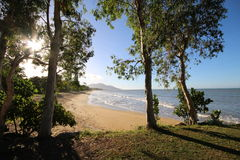 Plage de Bramston, Queensland du nord photographie stock libre de droits