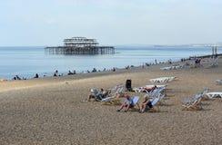 Plage de Brighton. Le Sussex. Angleterre photo stock