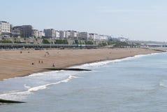 Plage de Brighton. Le Sussex est. LE R-U image stock