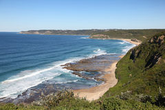 Plage de Burwood - Australie de Newcastle images libres de droits