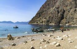PLAGE DE BUTTERFLY VALLEY, TURQUIE - 1ER JUIN Image libre de droits