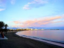 Plage de côte de Benalmadena Photos libres de droits