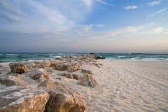 Plage de côte de Golfe Photos stock