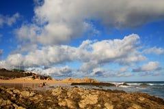 Plage de Calheta, Porto Santo Photo stock