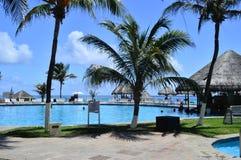 Plage de Cancun Photos stock