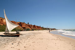 Plage de Canoa Quebrada, Brésil Photographie stock libre de droits