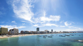 Plage de Canteras, Las Palmas de Gran Canaria, Espagne Image libre de droits