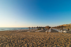 Plage de Carabssi, Alicante Photo stock