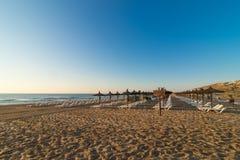 Plage de Carabssi, Alicante Photo stock