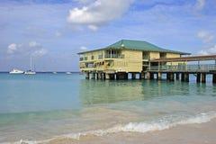 Plage de Carlisle Tropical en Barbade, des Caraïbes image libre de droits
