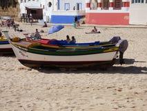 Plage de Carvoeiro Photos libres de droits