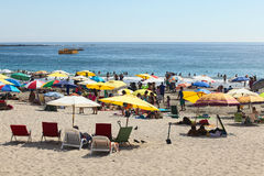 Plage de Cavancha dans Iquique, Chili Photo stock