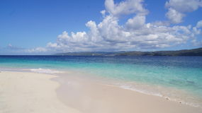 Plage de Cayo Levantado. Samana, des Caraïbes. Dominicain Photo stock