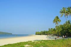 Plage de Cenang sur l'île de Langkawi Image libre de droits
