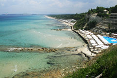 Plage de Chalkidiki Photo stock