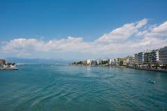 Plage de Chalkis, Grèce Images stock