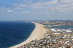 Plage de Chesil Photos stock