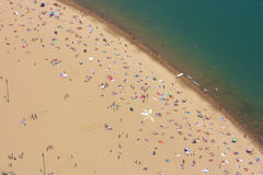 Plage de Chicago Photos stock