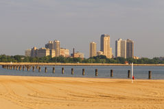 Plage de Chicago Photographie stock libre de droits
