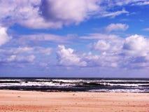 Plage de Chipiona à Cadix Photo stock