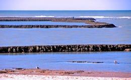 Plage de Chipiona à Cadix Photo libre de droits