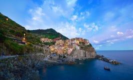 Plage de Cinque Terre en Italie Photos stock