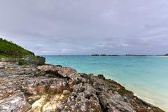 Plage de Clearwater - Bermudes photographie stock libre de droits