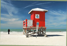 Plage de Clearwater, la Floride Photos stock