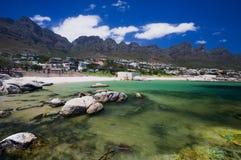 Plage de compartiment de camps, Capetown. l'Afrique du Sud Photo stock