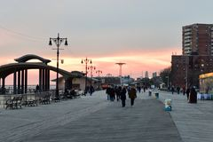 Plage de Coney Island - Brooklyn, New York photo stock