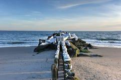 Plage de Coney Island, hiver images libres de droits