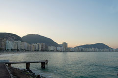 Plage de Copacabana Photos libres de droits