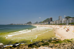 Plage de Copacabana Images stock