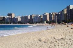 Plage de Copacabana Image libre de droits