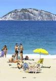 Plage de Copacabana dans le jour d'été Image libre de droits