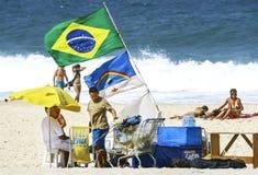 Plage de Copacabana dans le jour d'été Photo libre de droits