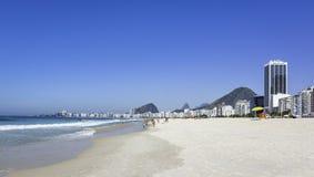 Plage de Copacabana en Rio de Janeiro Photo stock
