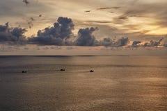 Plage de coucher du soleil à Phuket Thaïlande Images libres de droits