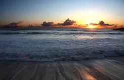Plage de coucher du soleil Photographie stock libre de droits