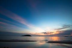 Plage de coucher du soleil Images libres de droits