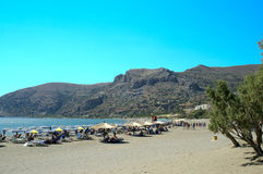 Plage de Crète Paleohora Photographie stock libre de droits