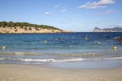 Plage de crique de Cala Bassa ; Ibiza Photographie stock