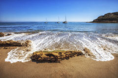 Plage de crique de pirates, la Californie, Etats-Unis Photographie stock libre de droits