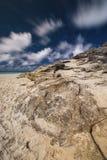 Plage de cylindre sur l'île de Stradbroke, Queensland Image libre de droits